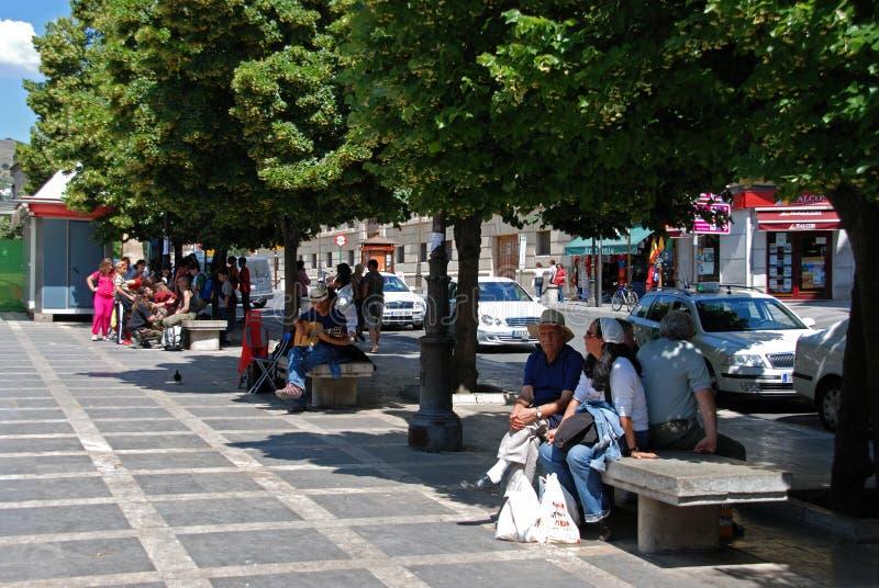 Plaza Nueva, Granada fotografia de stock