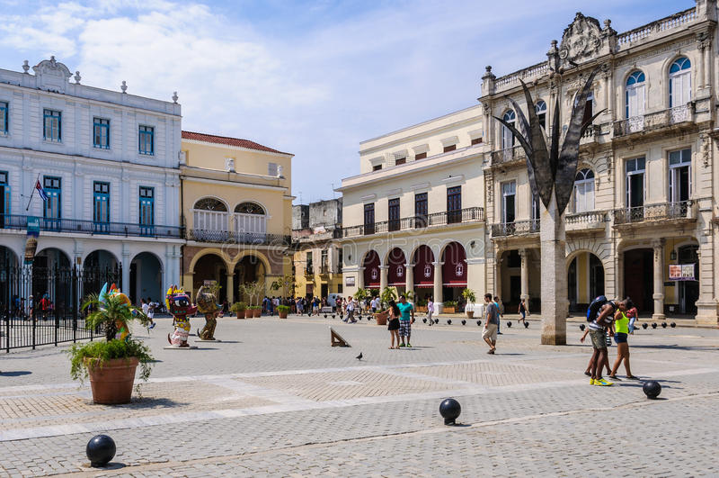 Plaza Nueva, La Habana Vieja, Cuba foto de stock royalty free