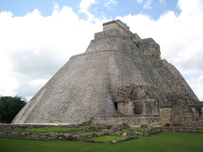 Plaza of old maya ruins stock photos