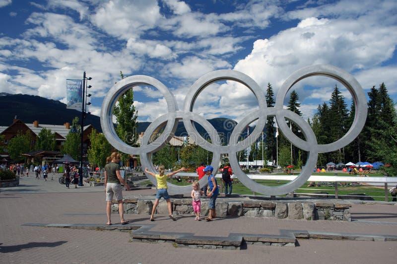 Plaza olimpica di Whistler fotografia stock libera da diritti