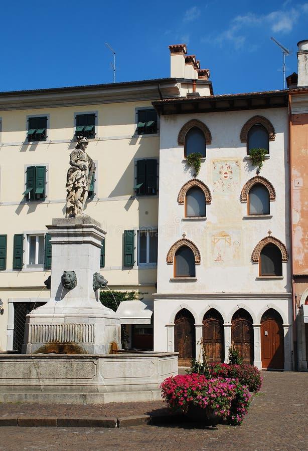Plaza Pablo Diacono, Cividale Del Friuli imagen de archivo libre de regalías