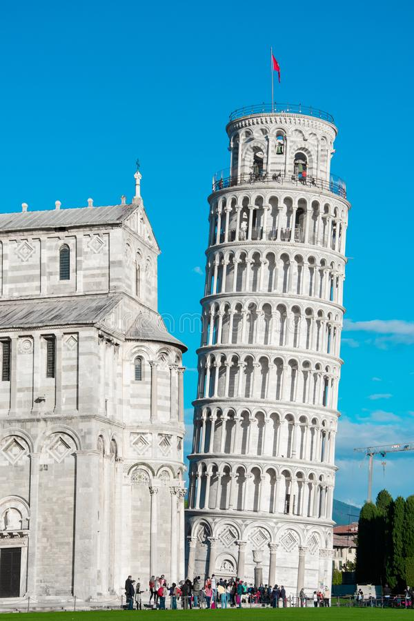 Plaza in Pisa, Leaning tower of Pisa royalty free stock images
