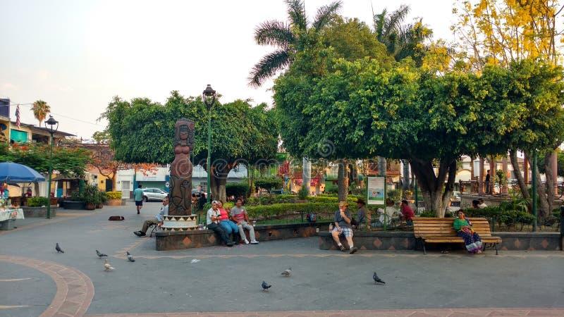 Plaza principal de Ajijic imagen de archivo libre de regalías