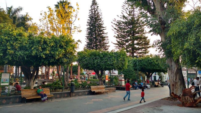 Plaza principal de Ajijic foto de archivo