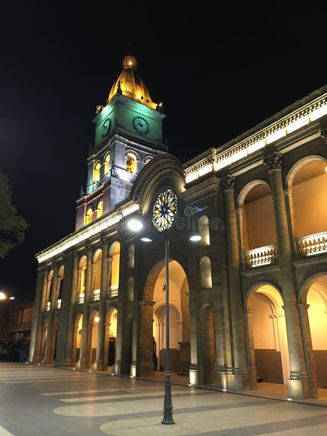 Plaza Principal De Cochabamba Por Noche Foto De Archivo Imagen De Noche Tenga 92734288