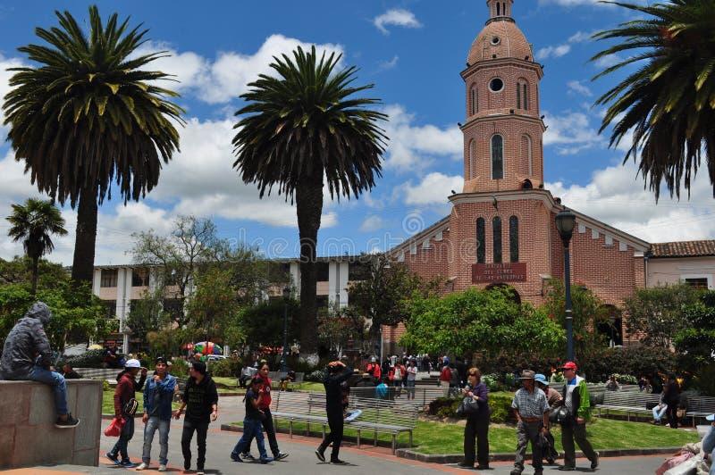 Plaza principal de Otavalo imágenes de archivo libres de regalías