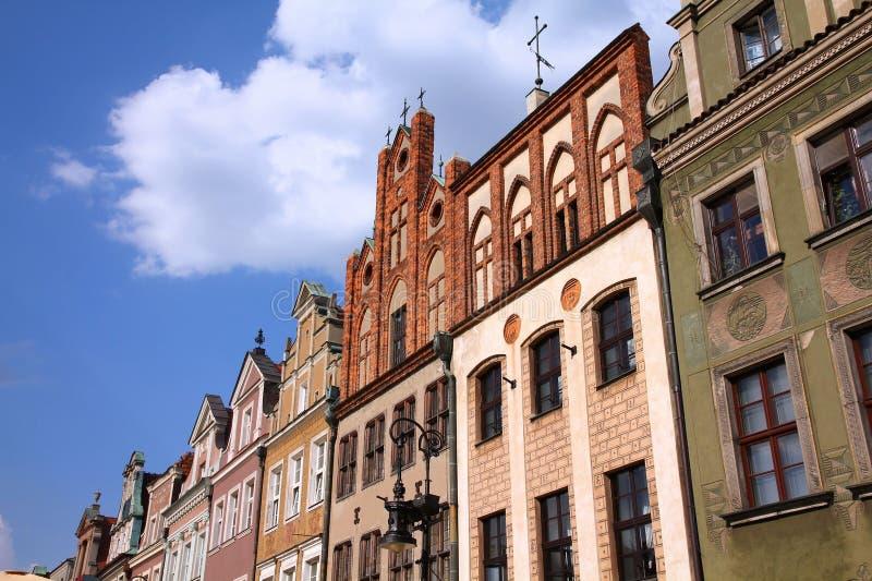 Plaza principal de Poznán, Polonia imagen de archivo libre de regalías