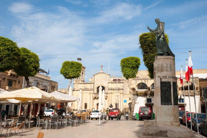 Plaza principal de Vicotria, isla de Gozo, Malta fotos de archivo libres de regalías