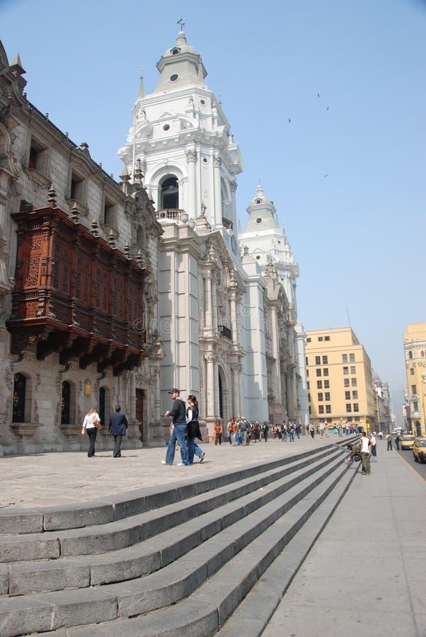 Plaza principal em Lima, Peru foto de stock