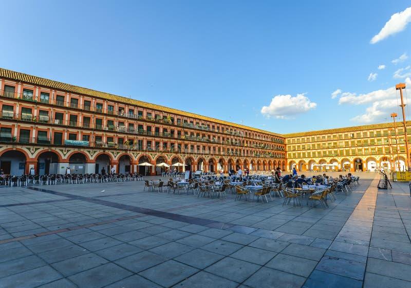 Plaza principal en Córdoba - España fotografía de archivo libre de regalías