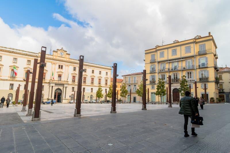 Plaza principal en Potenza, Italia foto de archivo