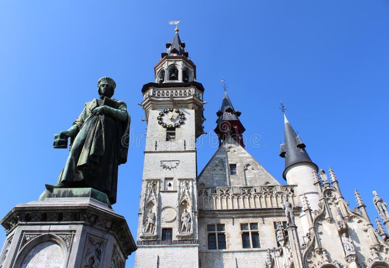 Plaza principal histórica, Aalst, Bélgica foto de archivo