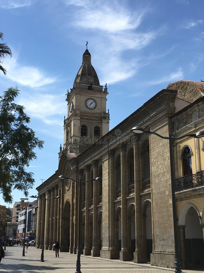Plaza principal I de Cochabamba fotografía de archivo