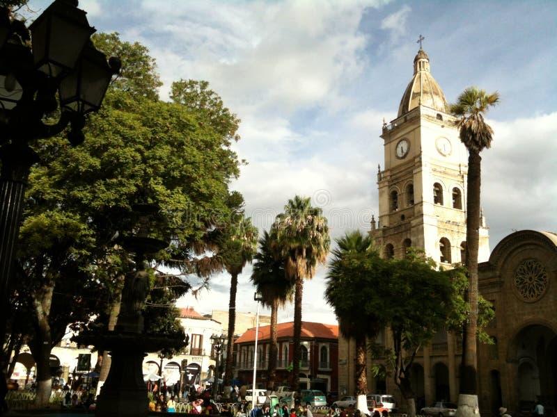 Plaza principal II de Cochabamba foto de archivo