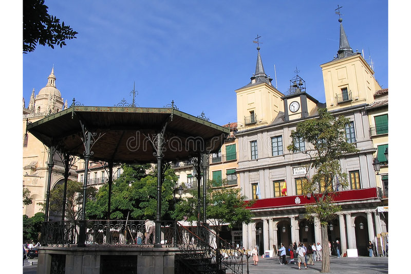 Download Plaza Principal, Segovia, España Imagen de archivo - Imagen de catedral, histórico: 175755