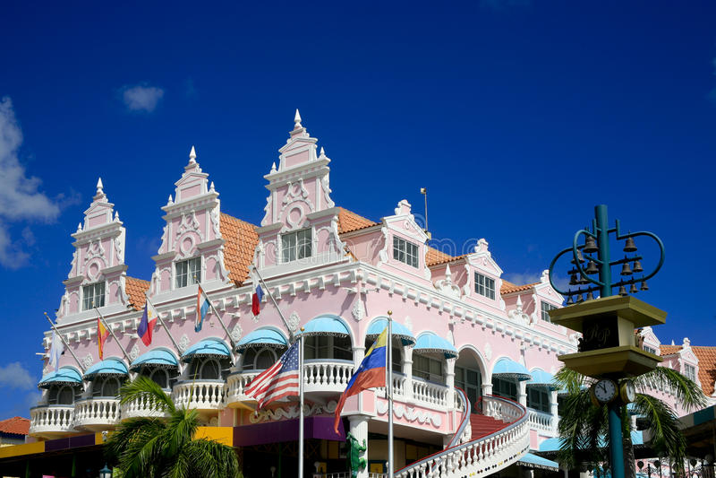 Plaza real, Oranjestad, Aruba imagem de stock royalty free