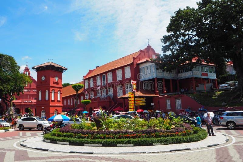 Plaza Roja en Meleka, Malasia fotografía de archivo