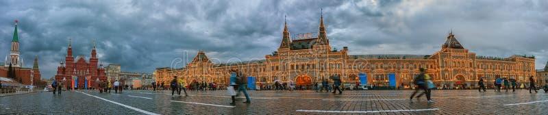 Plaza Roja en Moscú GOMA principal de los grandes almacenes Rusia imagen de archivo libre de regalías