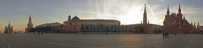 Plaza Roja en Moscú, Rusia. Opinión del panorama fotografía de archivo libre de regalías