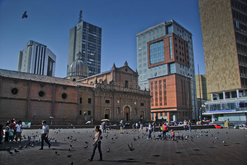 Plaza San Francisco, Downtown Cali - Colombia stock image
