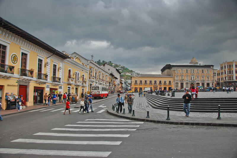 Plaza San Francisco in Quito royalty free stock images