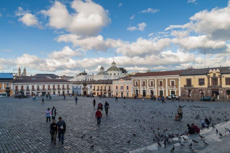 Plaza San Francisco square in Quito, Ecuador royalty free stock image