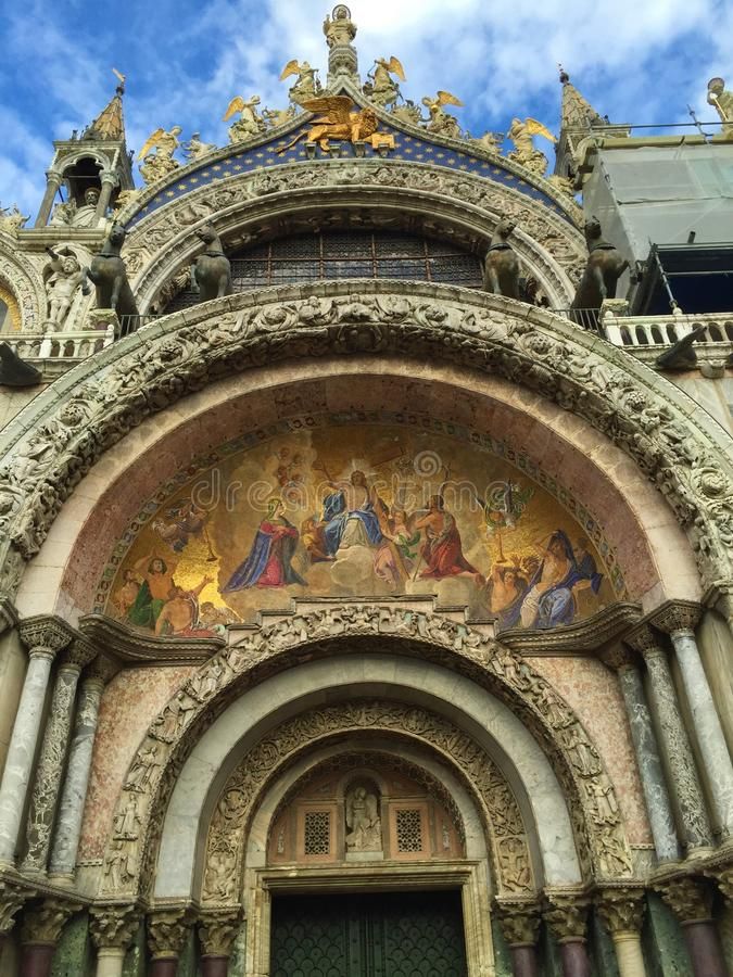 Plaza San Marco Venice Italy - basílica de StMarc fotos de archivo