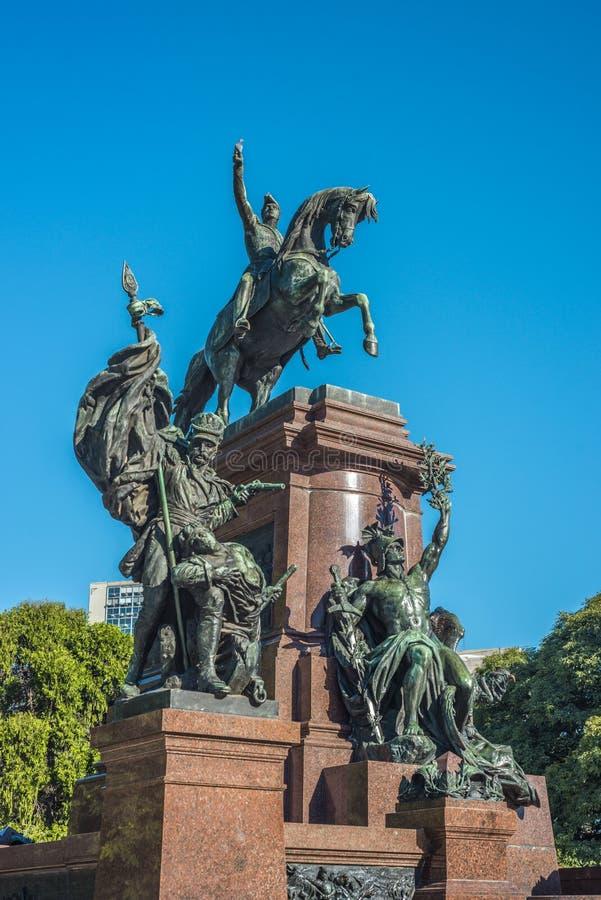 Plaza SAN Martin στο Μπουένος Άιρες, Αργεντινή. στοκ εικόνες με δικαίωμα ελεύθερης χρήσης