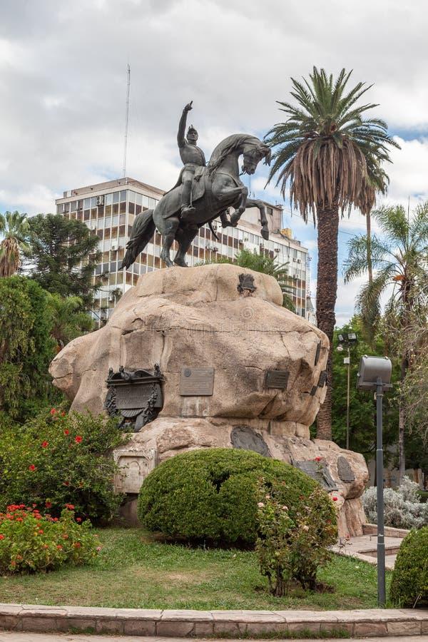 Plaza SAN Martin Mendoza Αργεντινή στοκ φωτογραφία με δικαίωμα ελεύθερης χρήσης