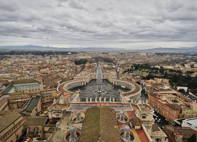 Plaza San Pedro, Ciudad del Vaticano, Roma, Italia fotografía de archivo libre de regalías