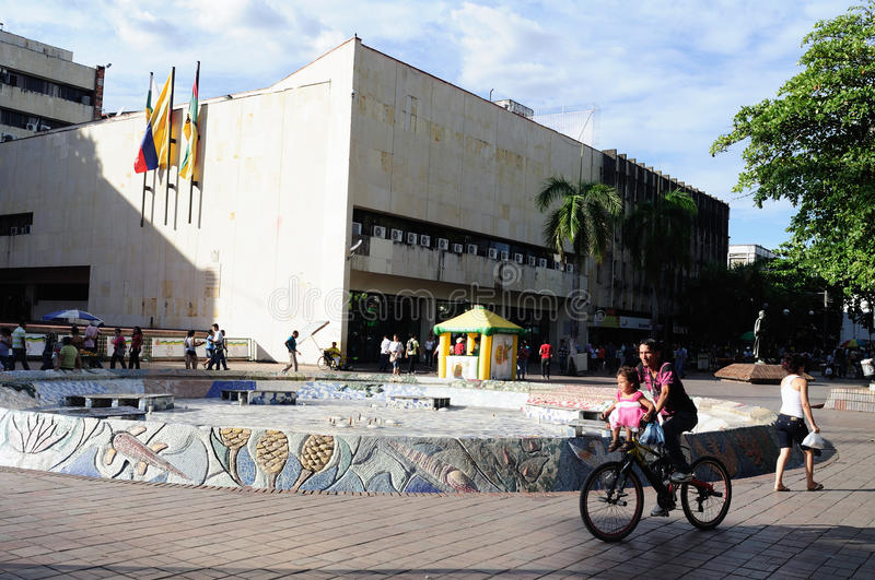 Plaza Santander - Neiva .Colombia stock images
