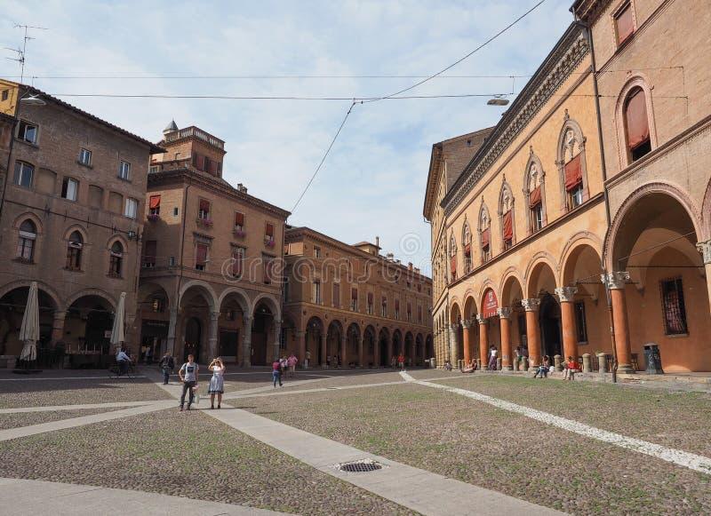 Plaza Santo Stefano en Bolonia foto de archivo libre de regalías
