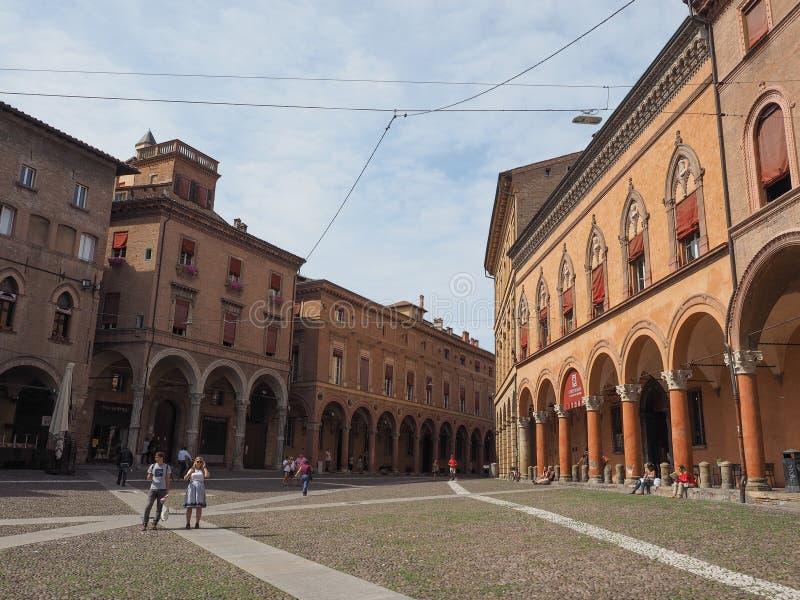 Plaza Santo Stefano en Bolonia fotografía de archivo