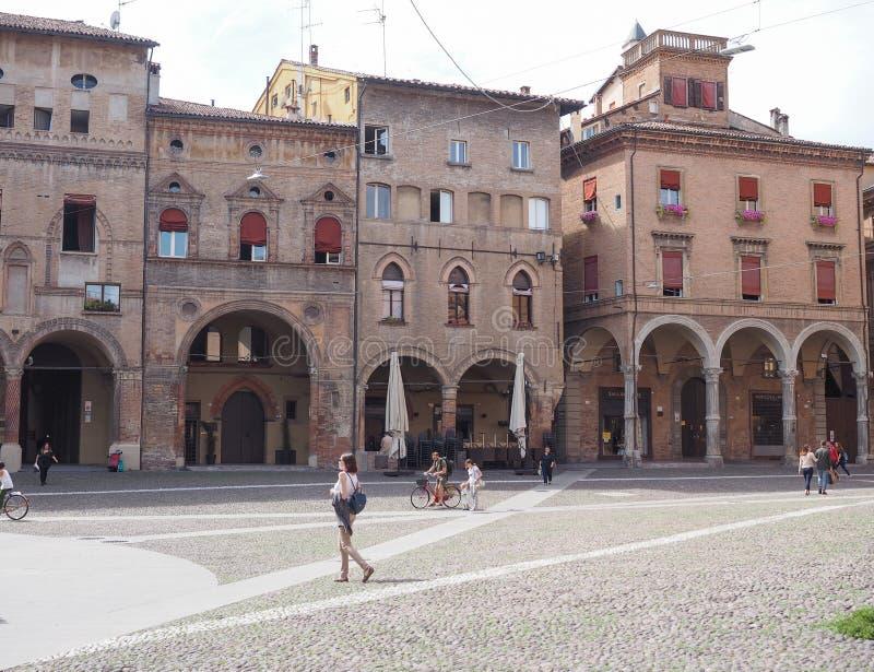 Plaza Santo Stefano en Bolonia imágenes de archivo libres de regalías