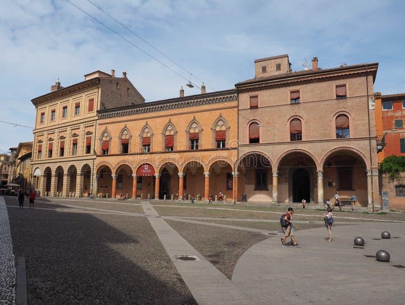 Plaza Santo Stefano en Bolonia imagenes de archivo