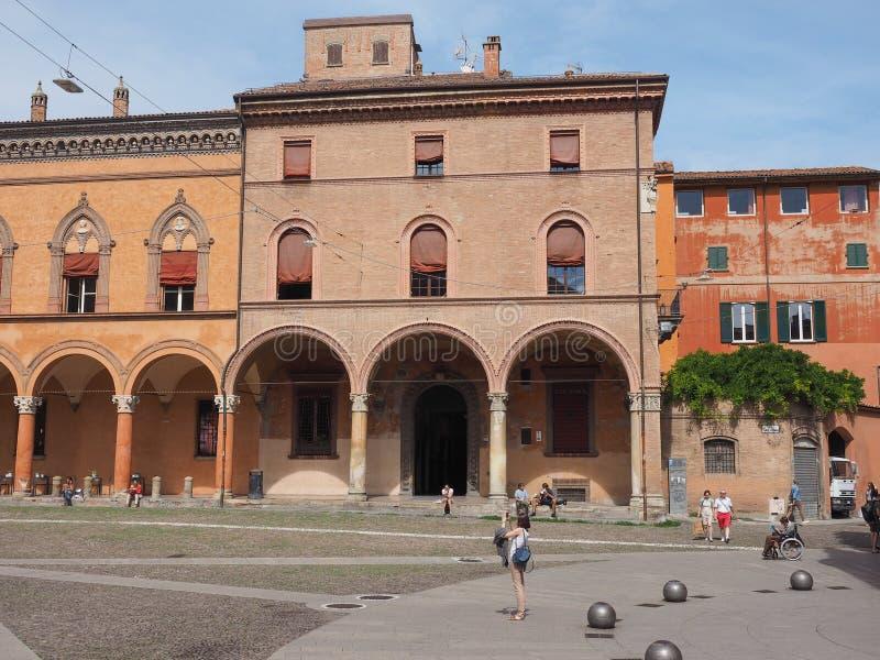 Plaza Santo Stefano en Bolonia foto de archivo