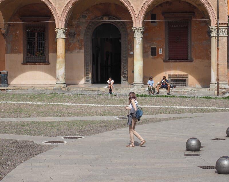 Plaza Santo Stefano en Bolonia fotografía de archivo libre de regalías