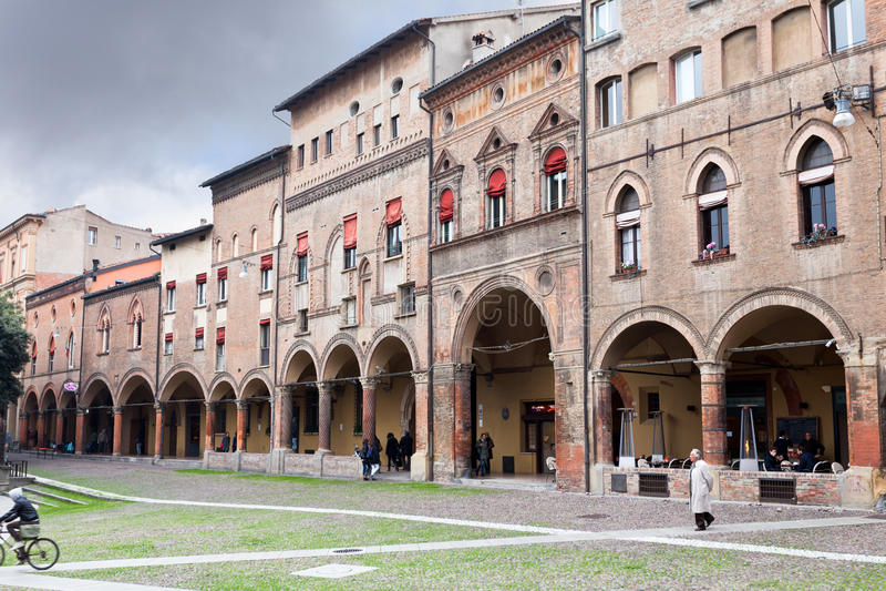 Plaza Santo Stefano en Bolonia, Italia fotografía de archivo libre de regalías