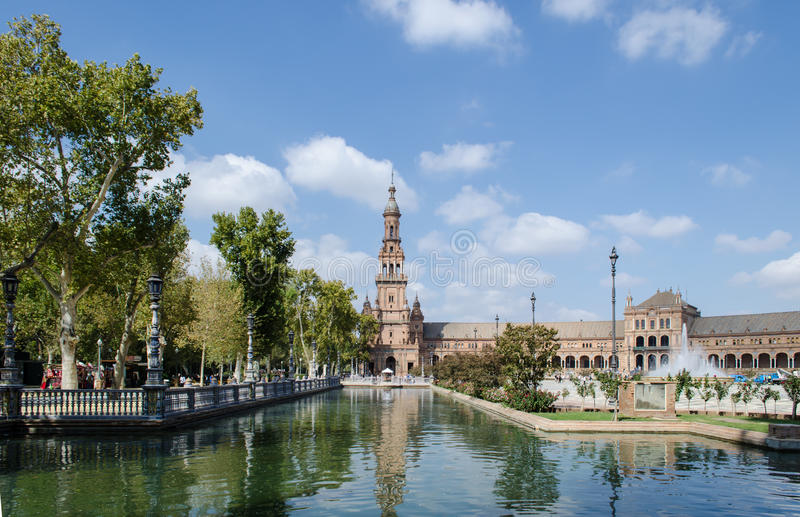 Plaza of Spain, Seville royalty free stock images