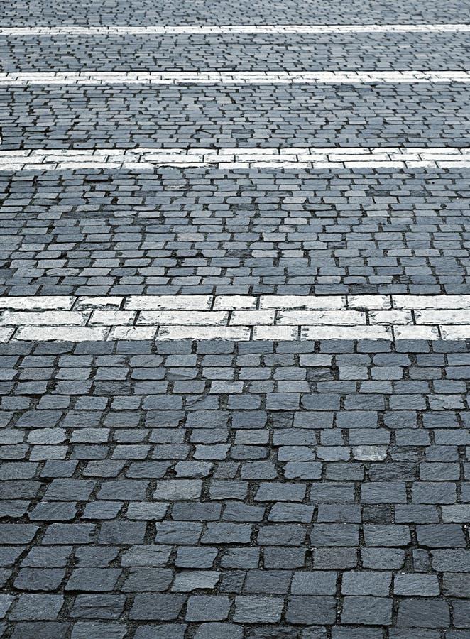 Free Plaza Stone Blocks With A Horizontal White Lines Stock Photography - 57296022