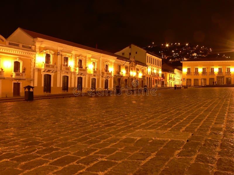 Plaza storica di Quito fotografie stock libere da diritti