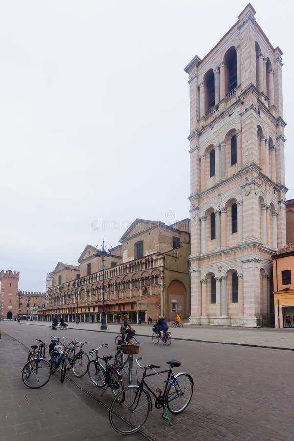 Plaza Trento e Trieste, Ferrara fotos de archivo