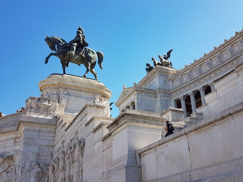 Plaza Venezia en Roma foto de archivo libre de regalías