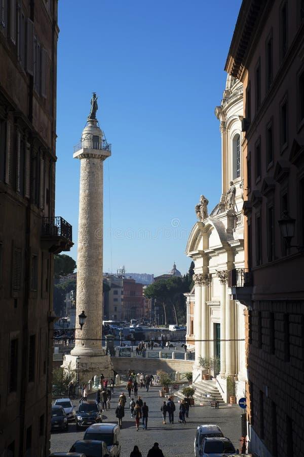 Plaza Venezia en Roma, Italia fotos de archivo