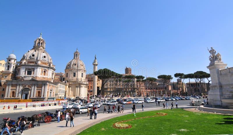 Plaza Venezia, Roma fotografía de archivo