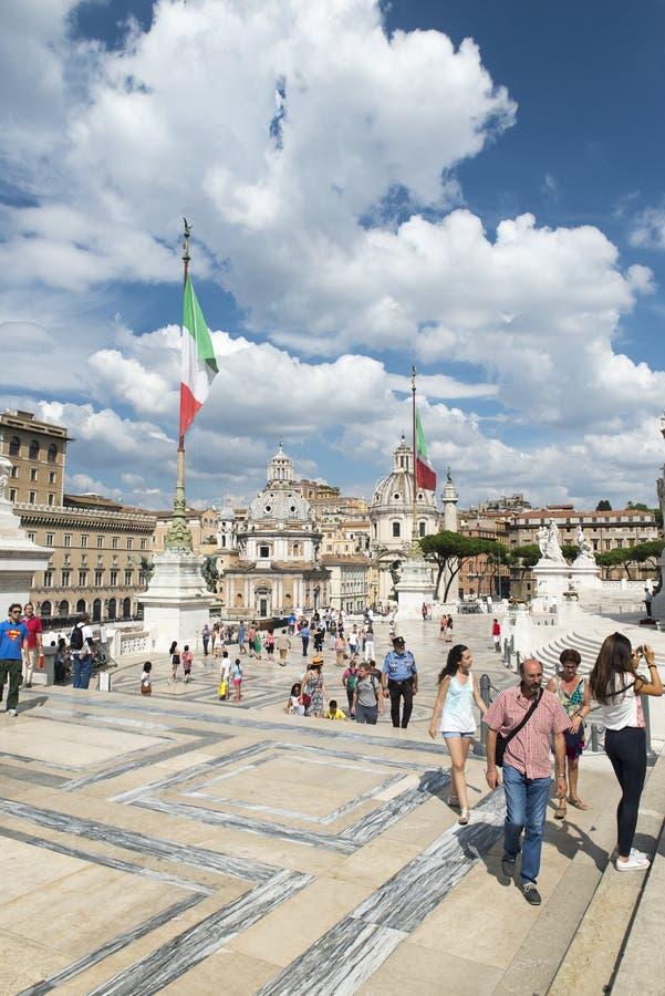 Plaza Venezia, Roma fotos de archivo libres de regalías
