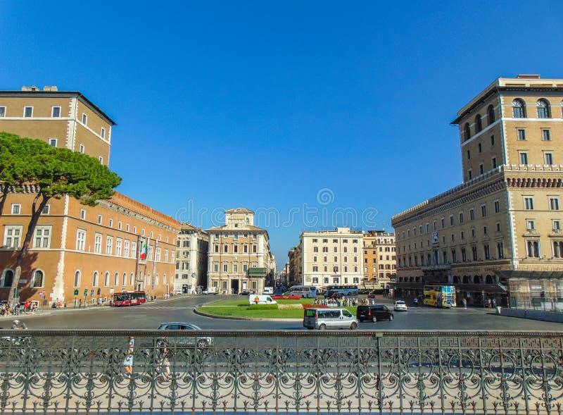 Plaza Venezia, Roma - Italia foto de archivo libre de regalías