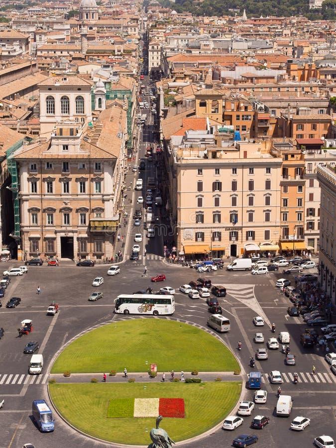 Plaza Venezia Roma Italia fotografía de archivo libre de regalías