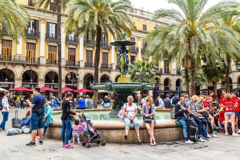 Plaza verklig de Barcelona royaltyfri fotografi