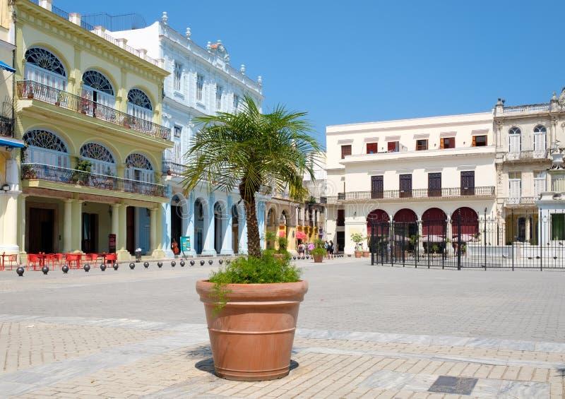 Plaza Vieja en iconic gränsmärke av den gamla havannacigarren royaltyfri bild